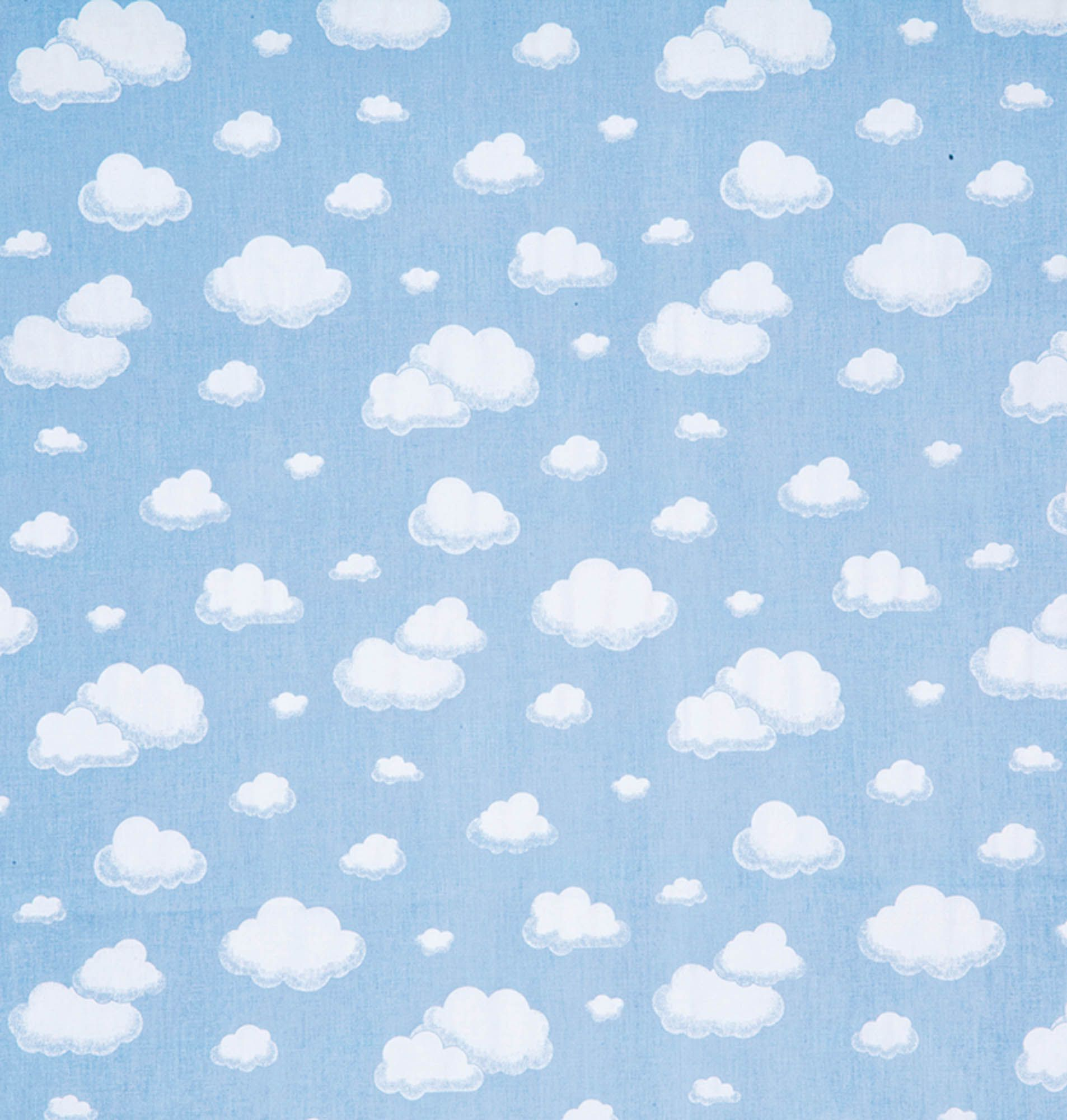 Tecido tricoline estampado nuvem dohler 100% algodão azul