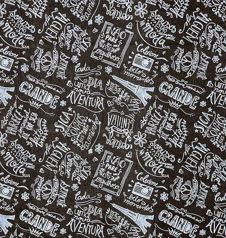 Tecido tricoline estampado dohler 100% algodão paris