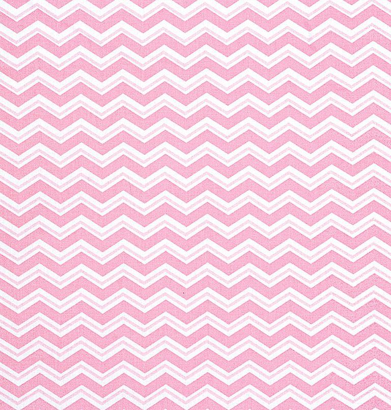 Tecido tricoline estampado dohler 100% algodão chevron rosa