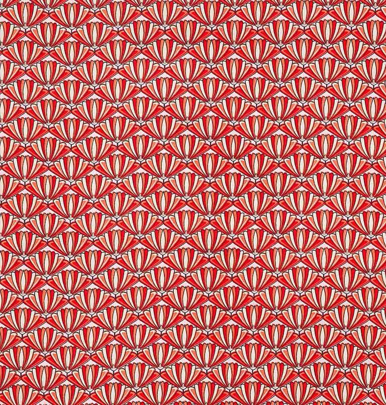 Tecido tricoline estampado patchwork dohler 100% algodão compose vermelho