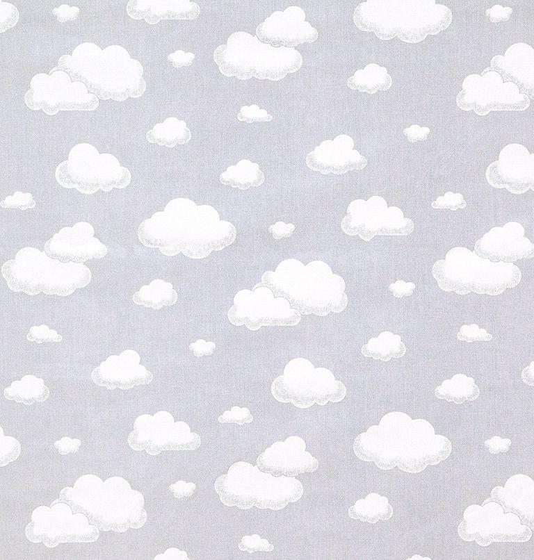 Tecido tricoline estampado nuvem dohler 100% algodão cinza