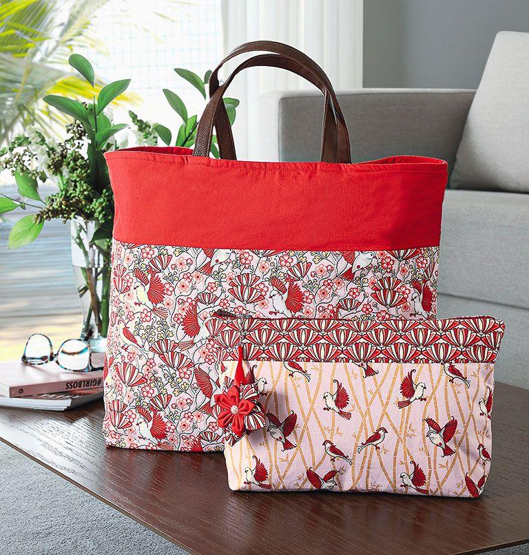 Tecido tricoline estampado passaro dohler 100% algodão vermelho