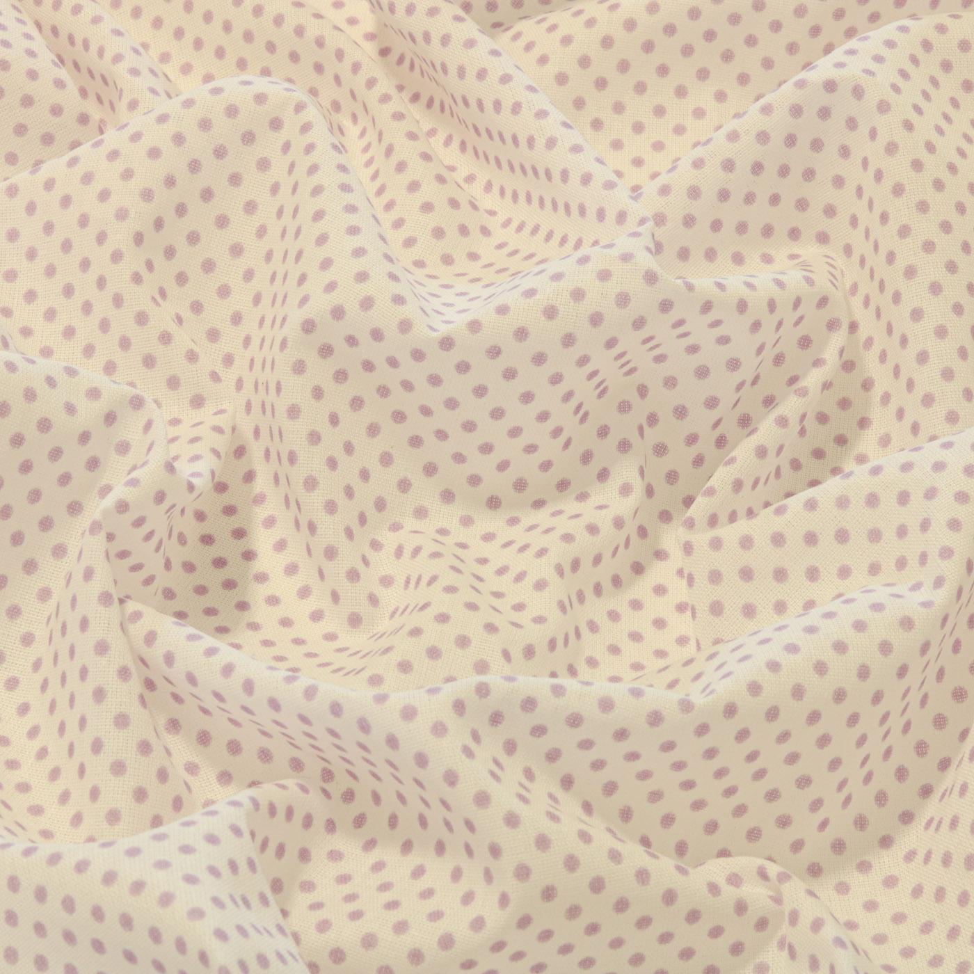 Tecido Tricoline Estampado Patchwork Poa Bola Bolinhas Lilás