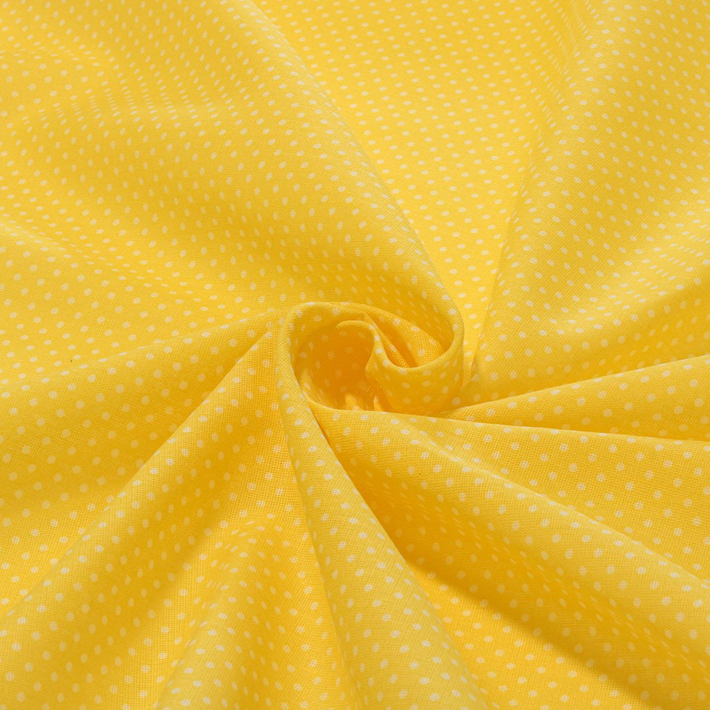 Tecido Tricoline Estampado Patchwork Poa Bolinha Amarelo