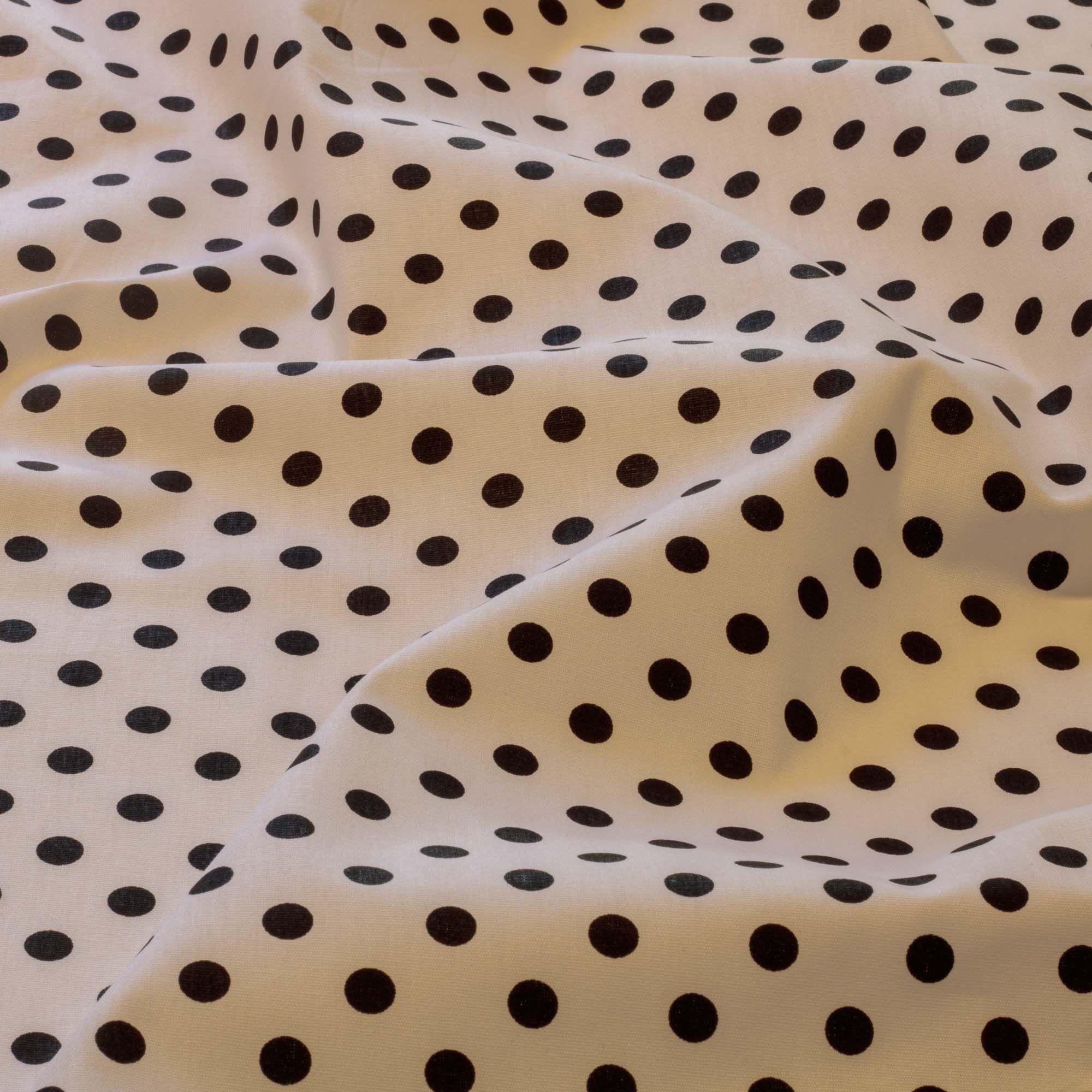 Tecido tricoline estampado poa 100% algodão