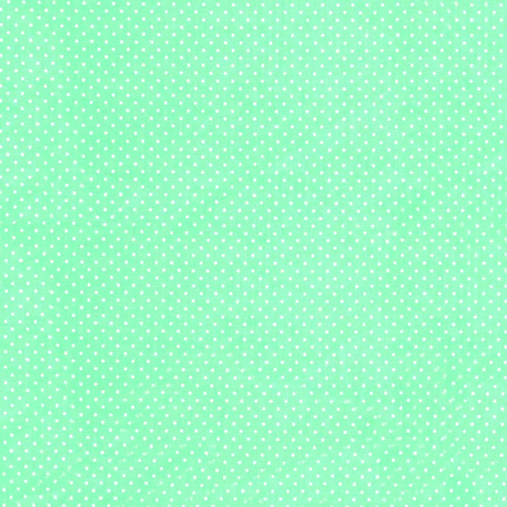 Tecido tricoline estampado poa bolinhas dohler 100% algodão verde/bebe