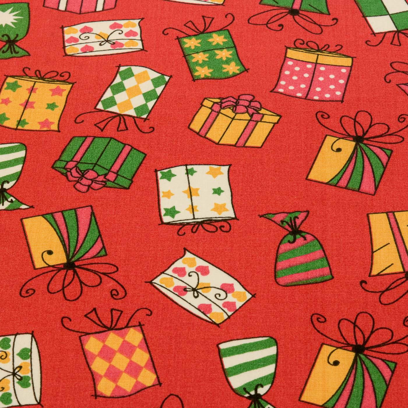 Tecido Tricoline Estampado Presentes 100% Algodão Natal