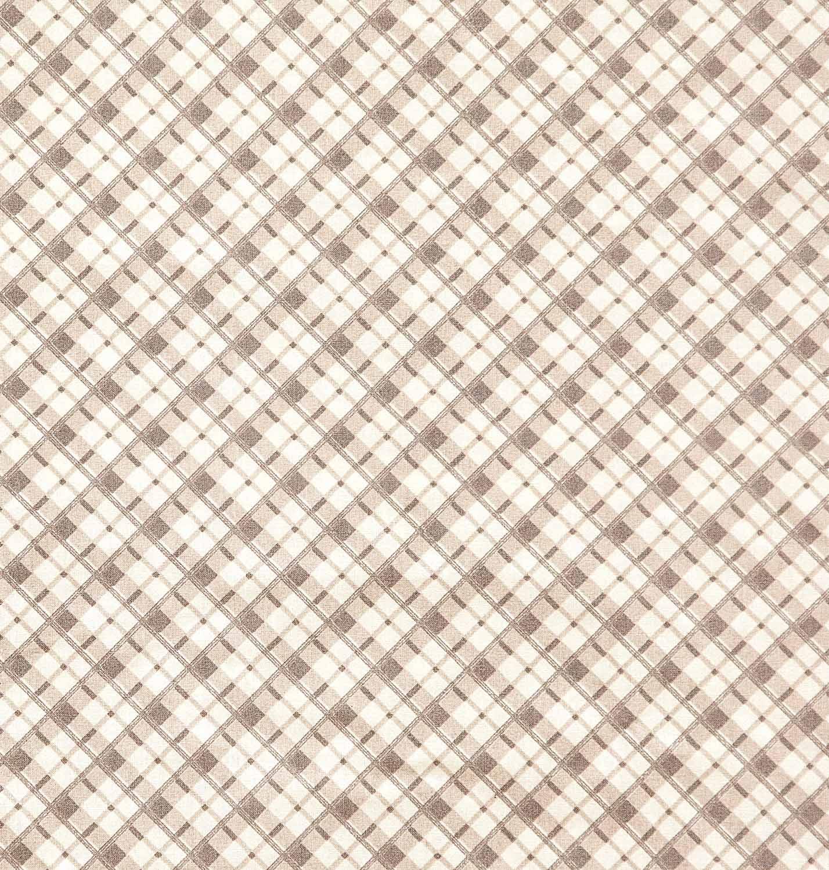 Tecido tricoline estampado xadrez 100% algodão geometrico