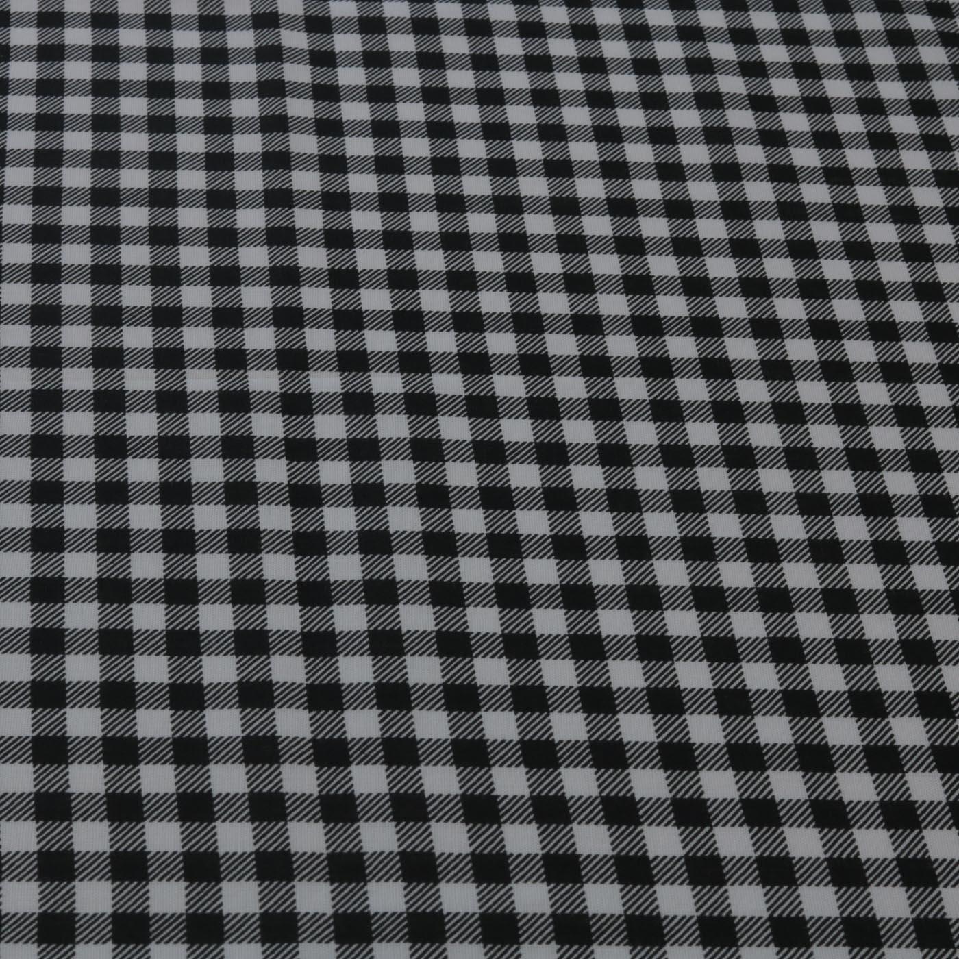 Tecido Tricoline Estampado Xadrez 1,40 m Largura Preto