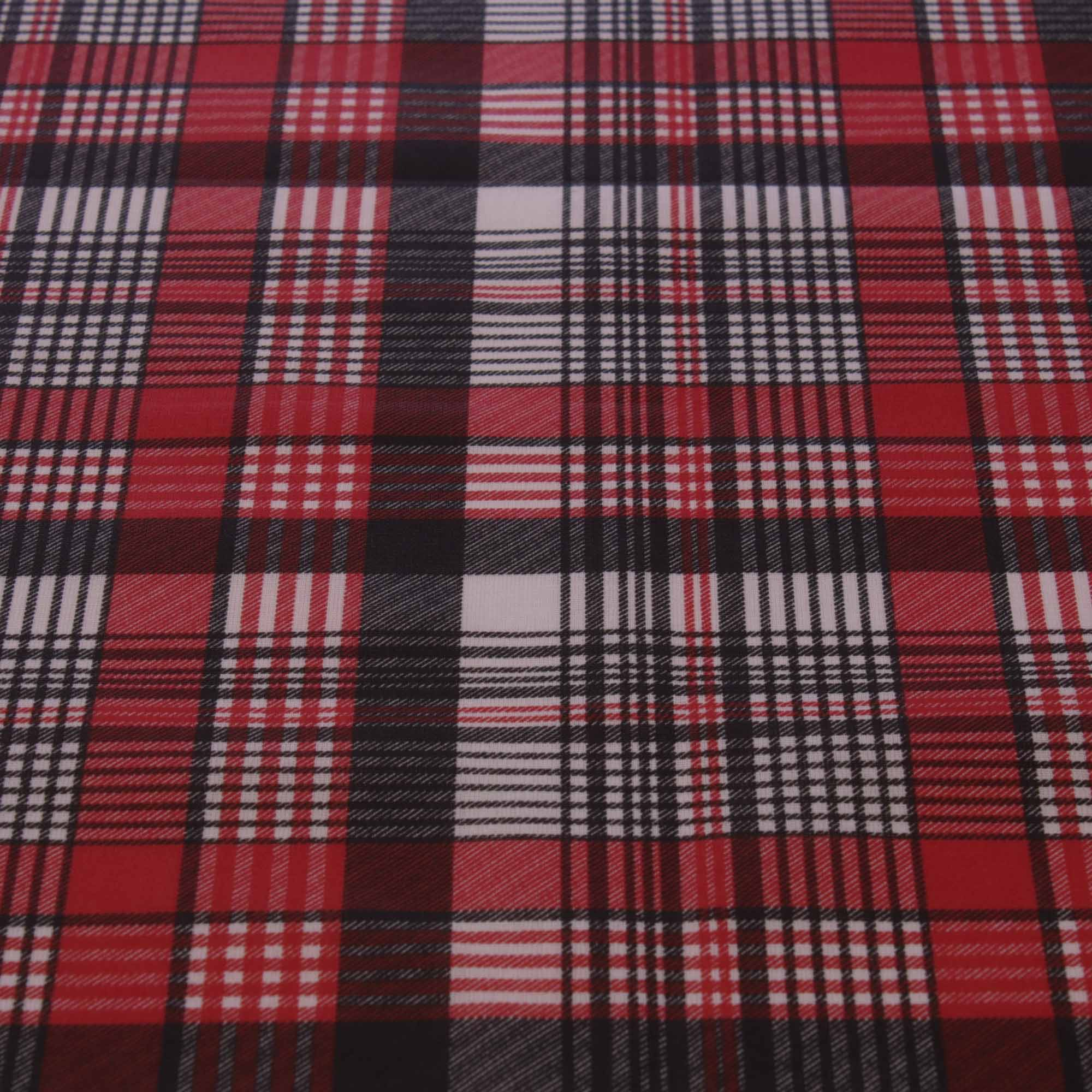 Tecido tricoline estampado xadrez 1,40 m largura vermelho
