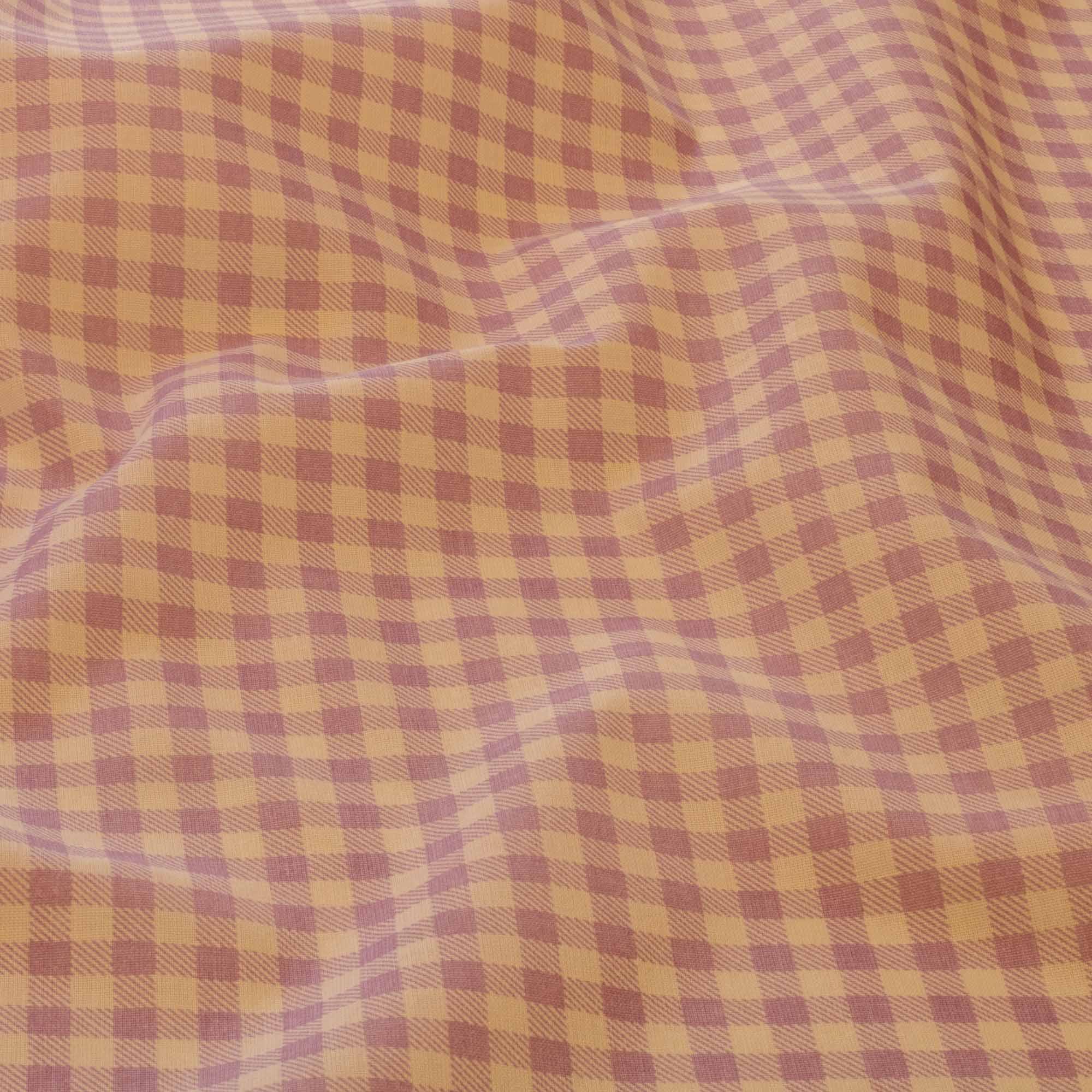 Tecido Tricoline Estampado Xadrez 1,40 Mt Largura Lilas