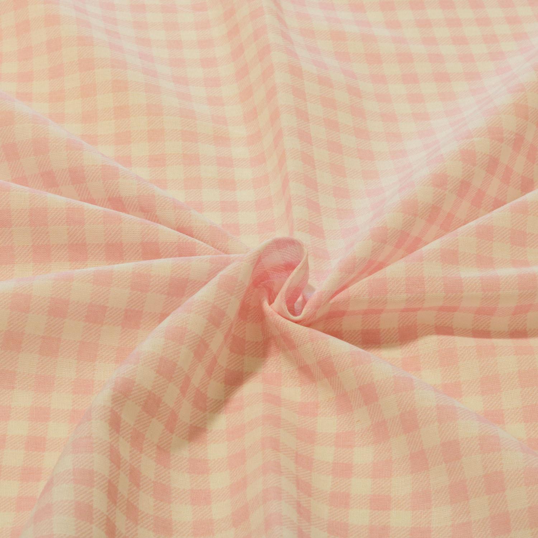 Tecido Tricoline Estampado Xadrez 1 Metro x 1,40Mt Rosa Bebê