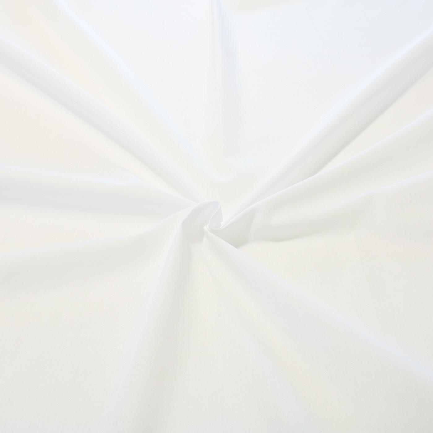 Tecido tricoline liso 50% algodão 50% poliéster branco