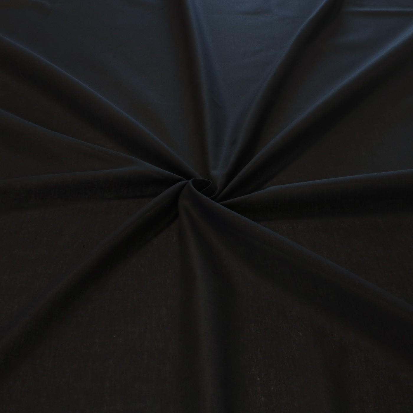 Tecido tricoline liso 50% algodão 50% poliéster preto