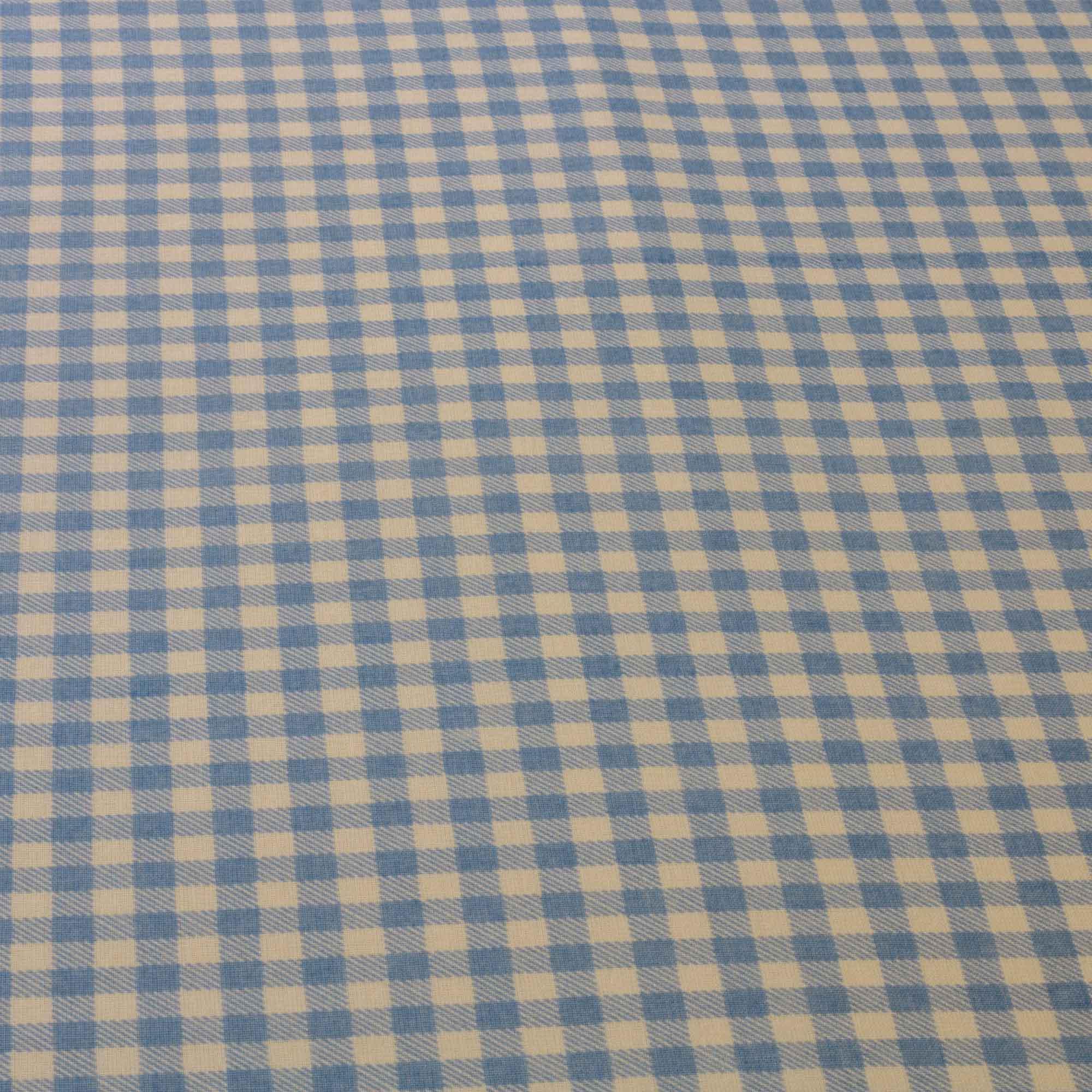Tecido Tricoline Misto Estampado 50% Algodao 50% Poliester Azul