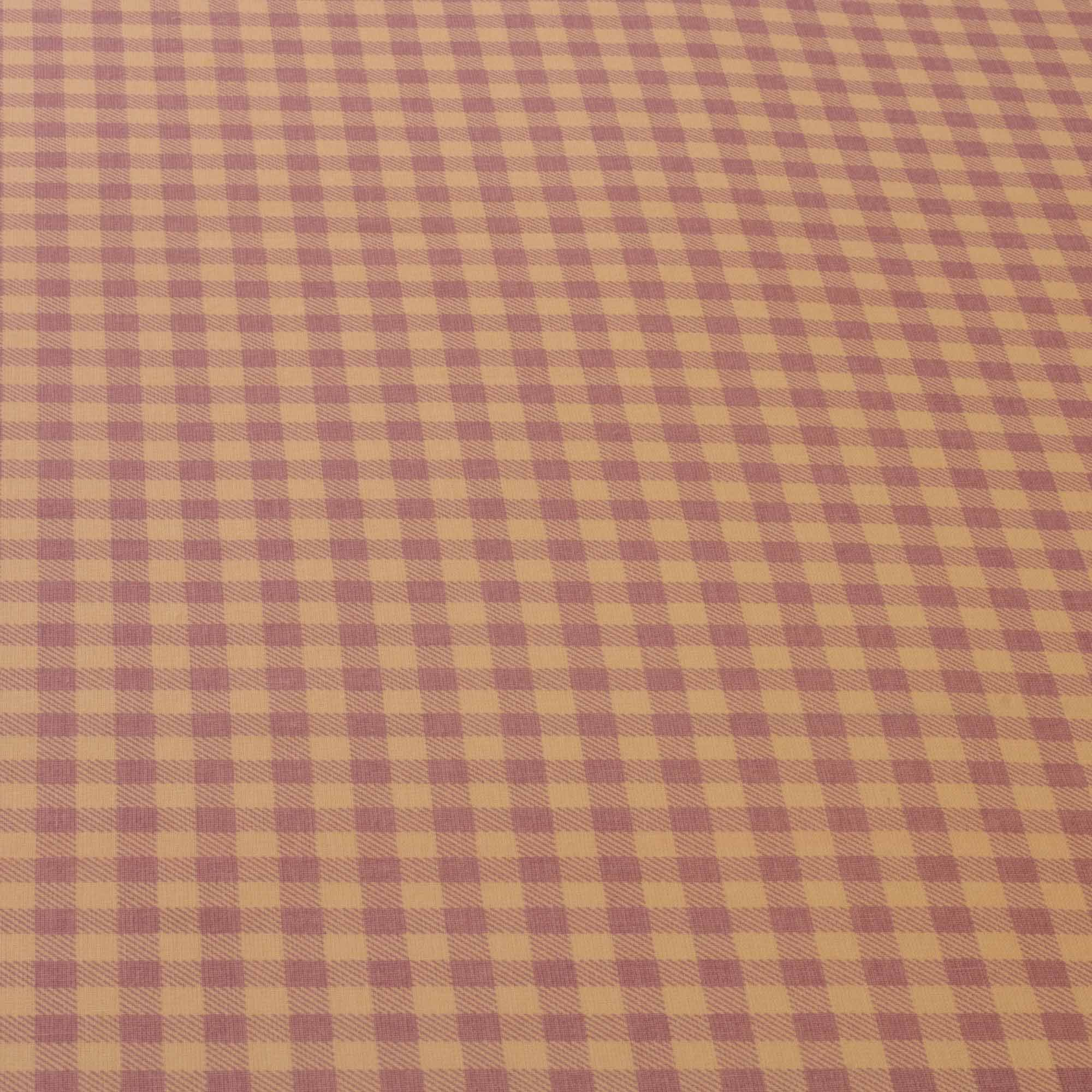 Tecido tricoline misto estampado xadrez 1,40 m largura lilas