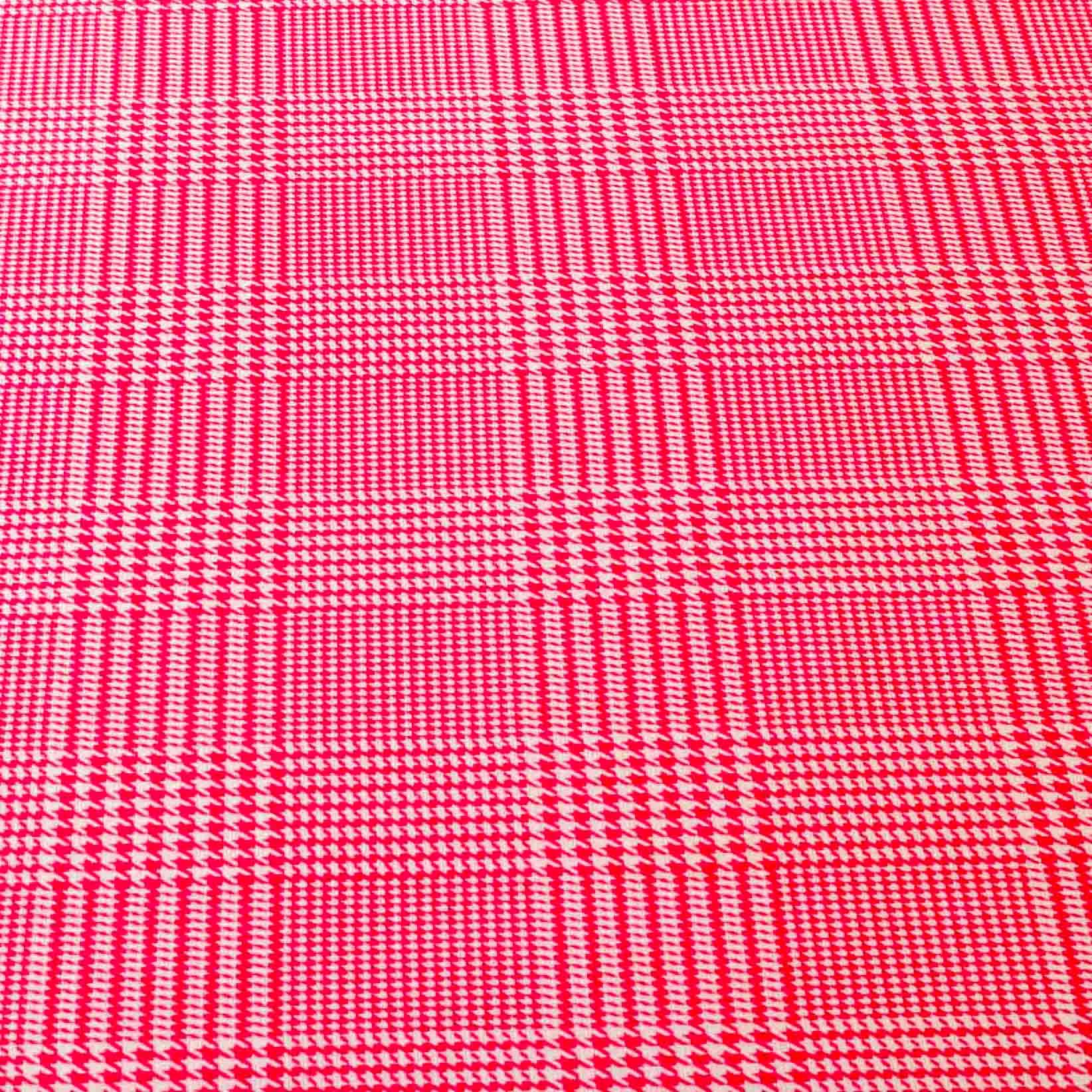 Tecido tricoline misto xadrez 50% algodao 50% poliester 1,40 mt largura