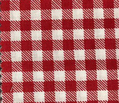 Tecido Tricoline Misto Estampado Xadrez Vermelho Quadrado de 1 cm x 1 cm 50% Algodao 50% Poliester 1,40 m Largura