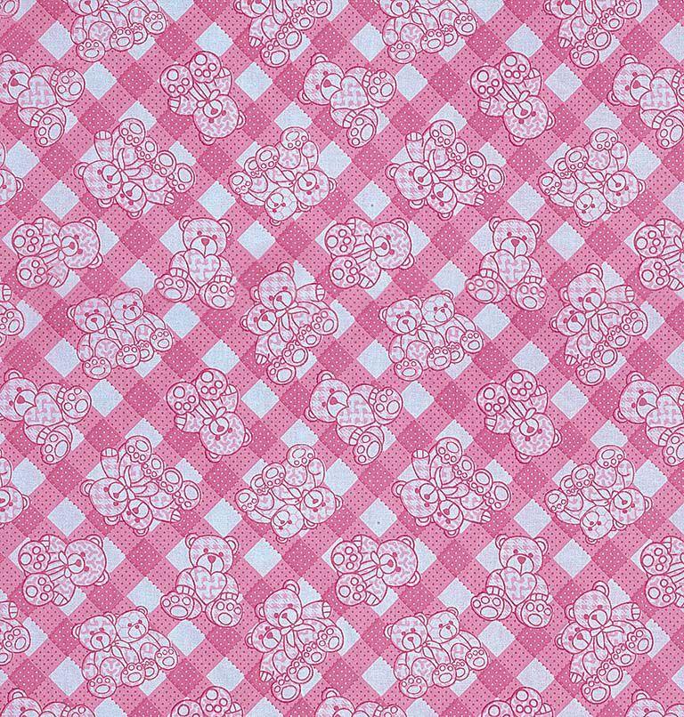 Tecido tricoline estampado dohler 100% algodão bebê rosa