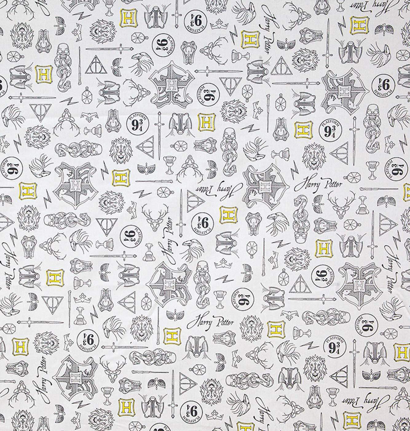 Tecido tricoline patchwork licenciado harry potter 07