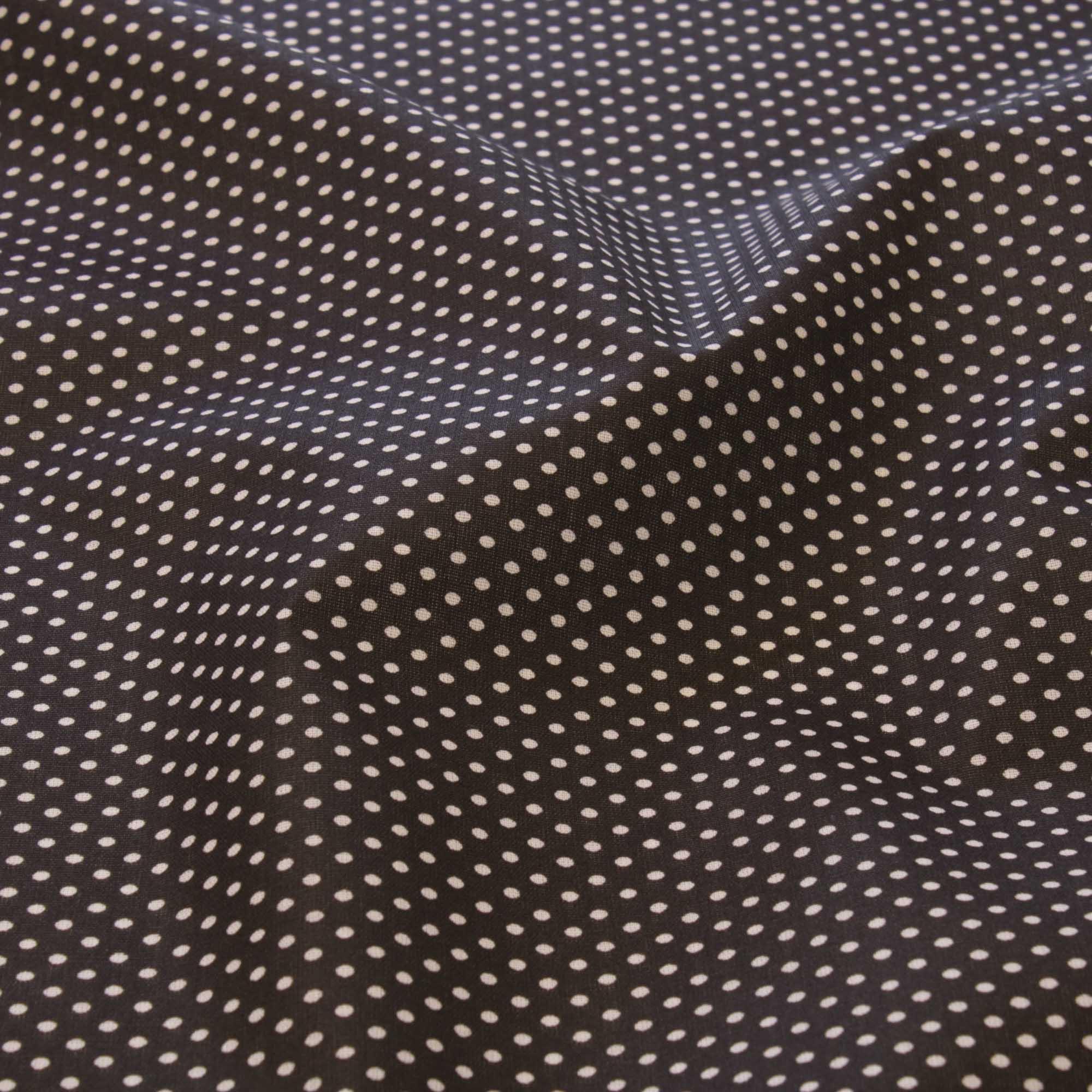 Tecido tricoline poa bolinha 1,40 m largura preto