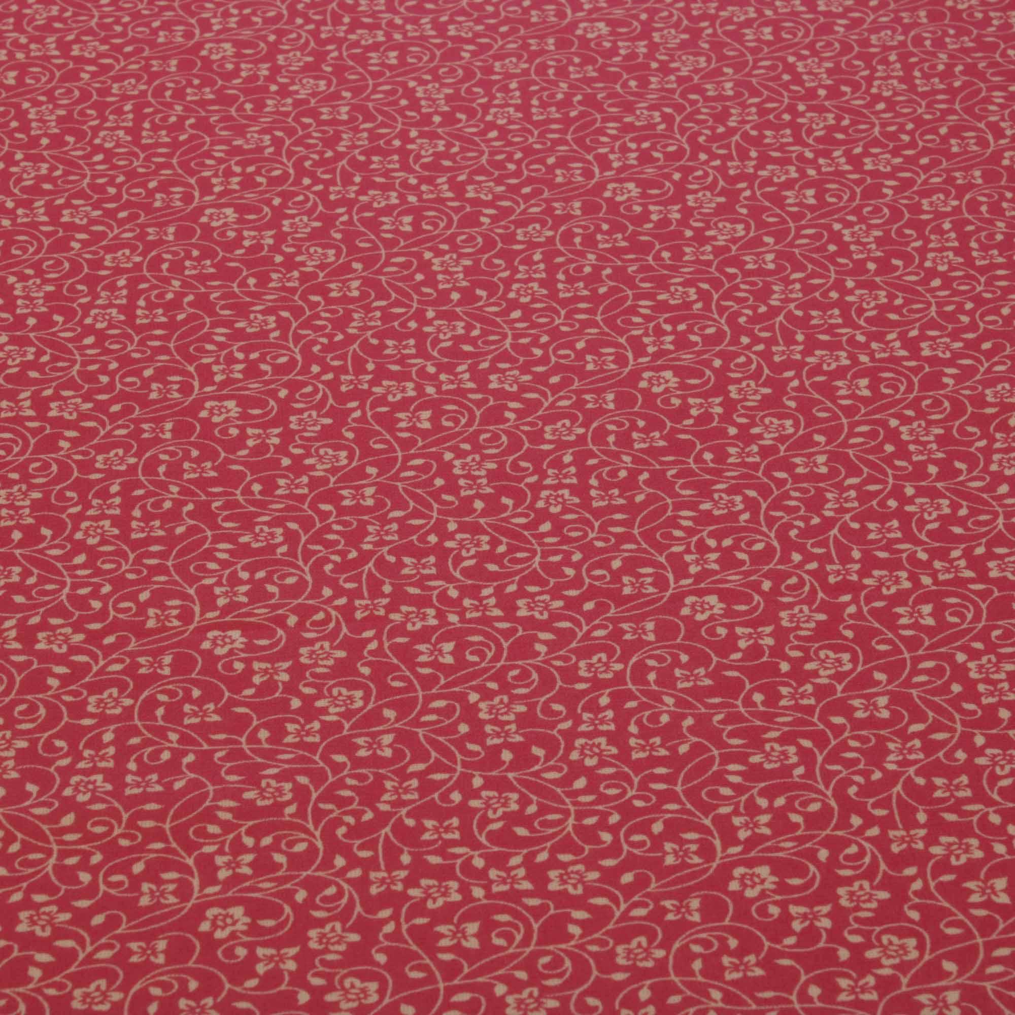 Tecido tricoline ramos flores 1,40 m largura rosa