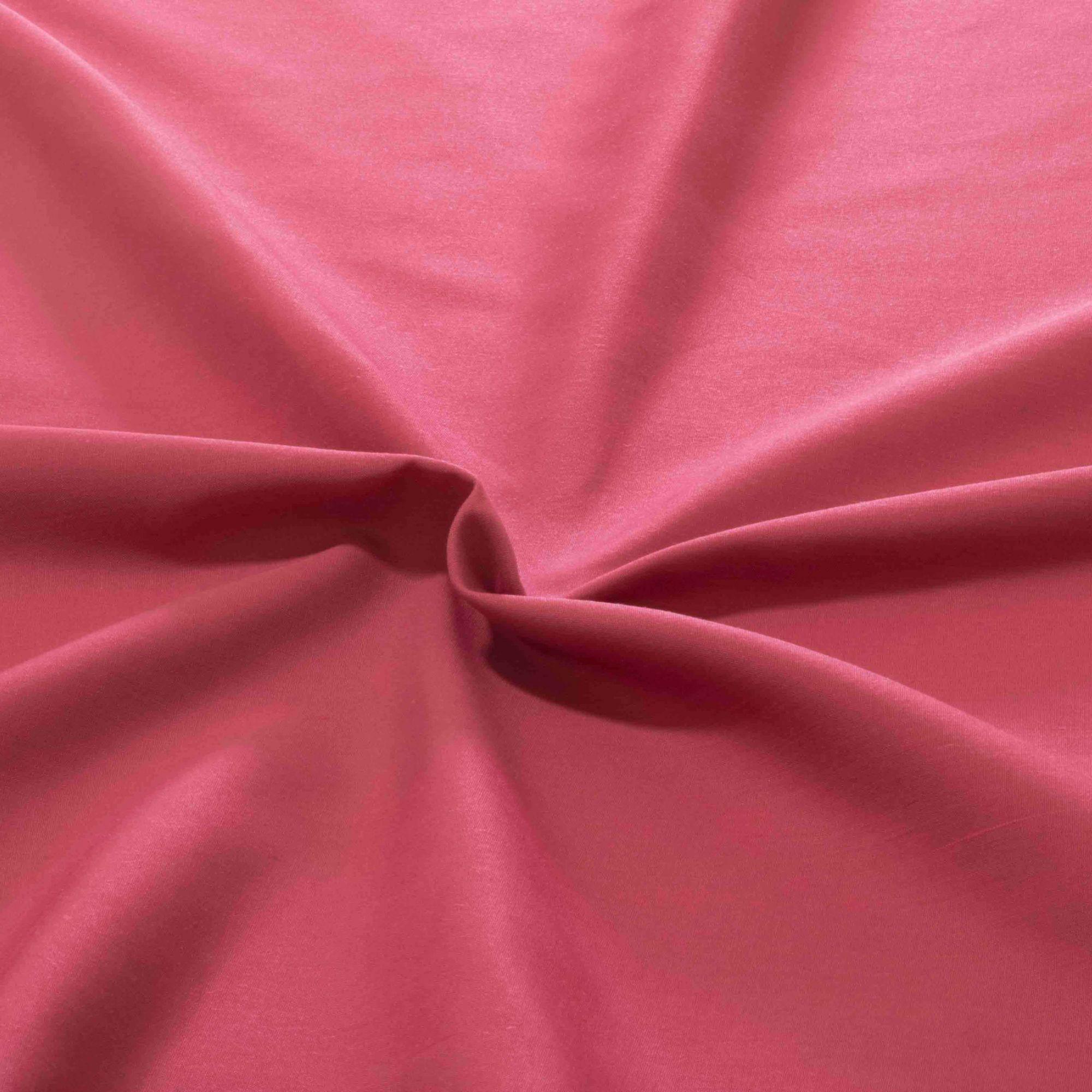 Tecido Tricoline Rosa 65% Algodão 35% Poliester 1,40 m Largura