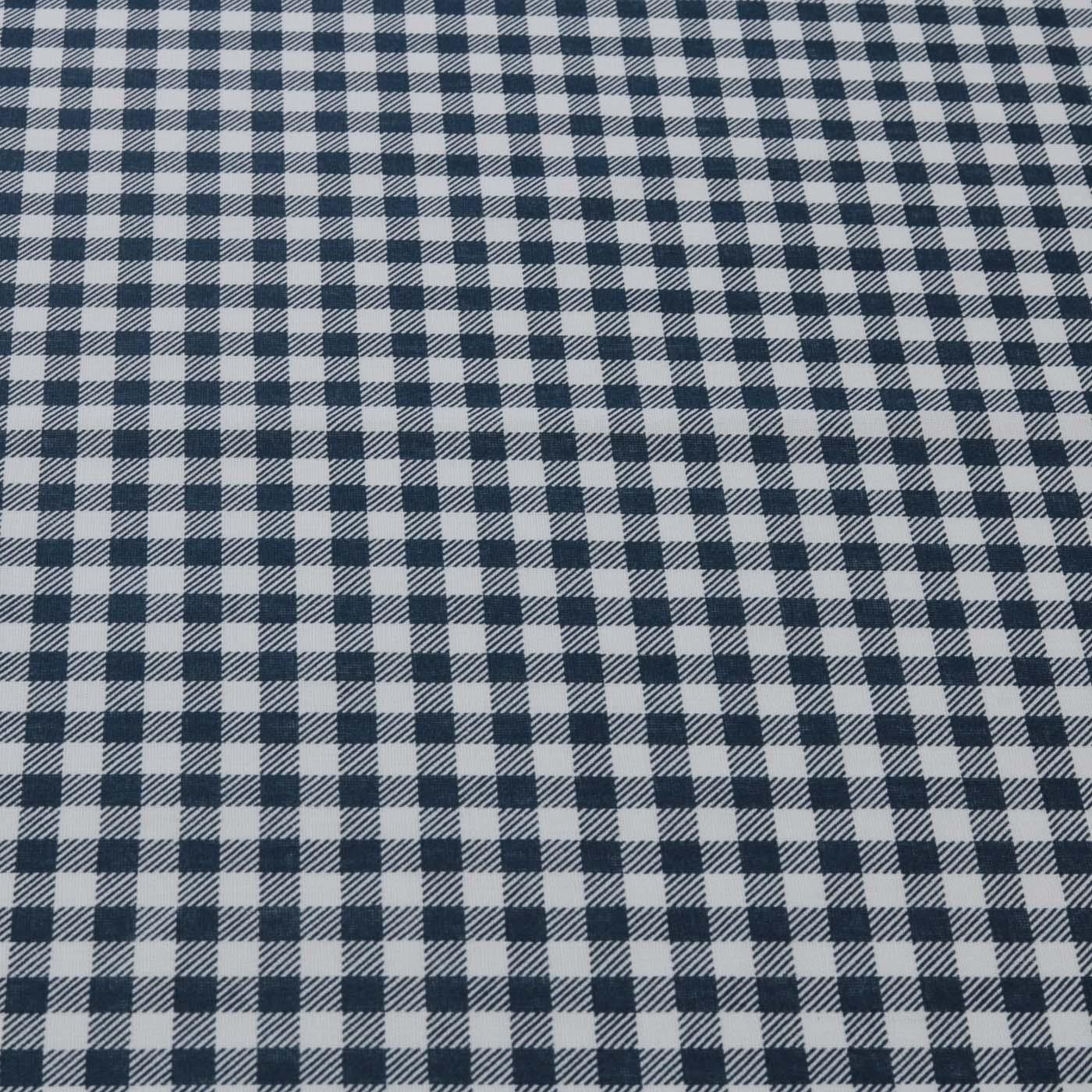Tecido Tricoline Xadrez Estampado Patchwork Azul Marinho