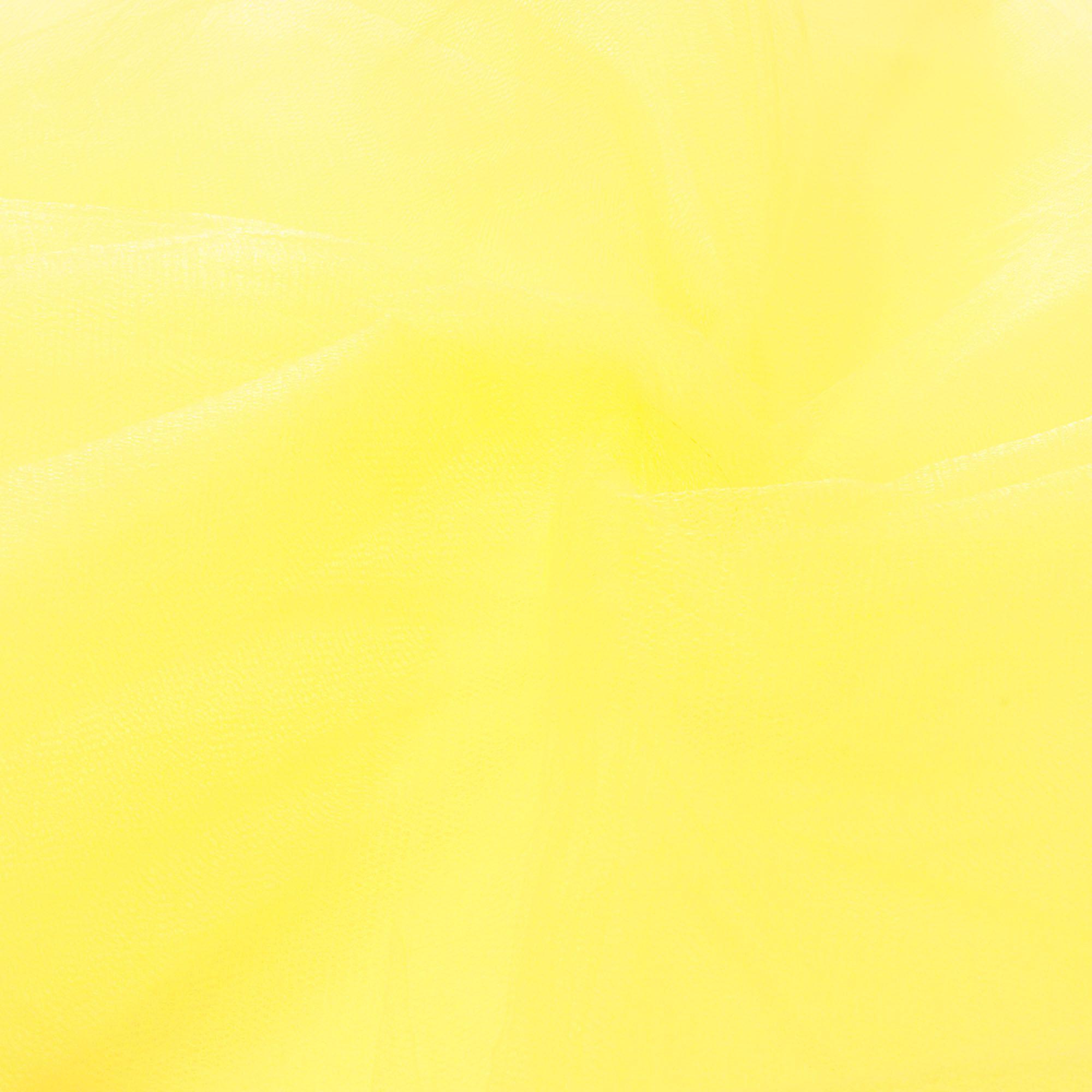 Tecido Tule 100% Poliester 1,20 Mt Largura 004 Amarelo Bebê
