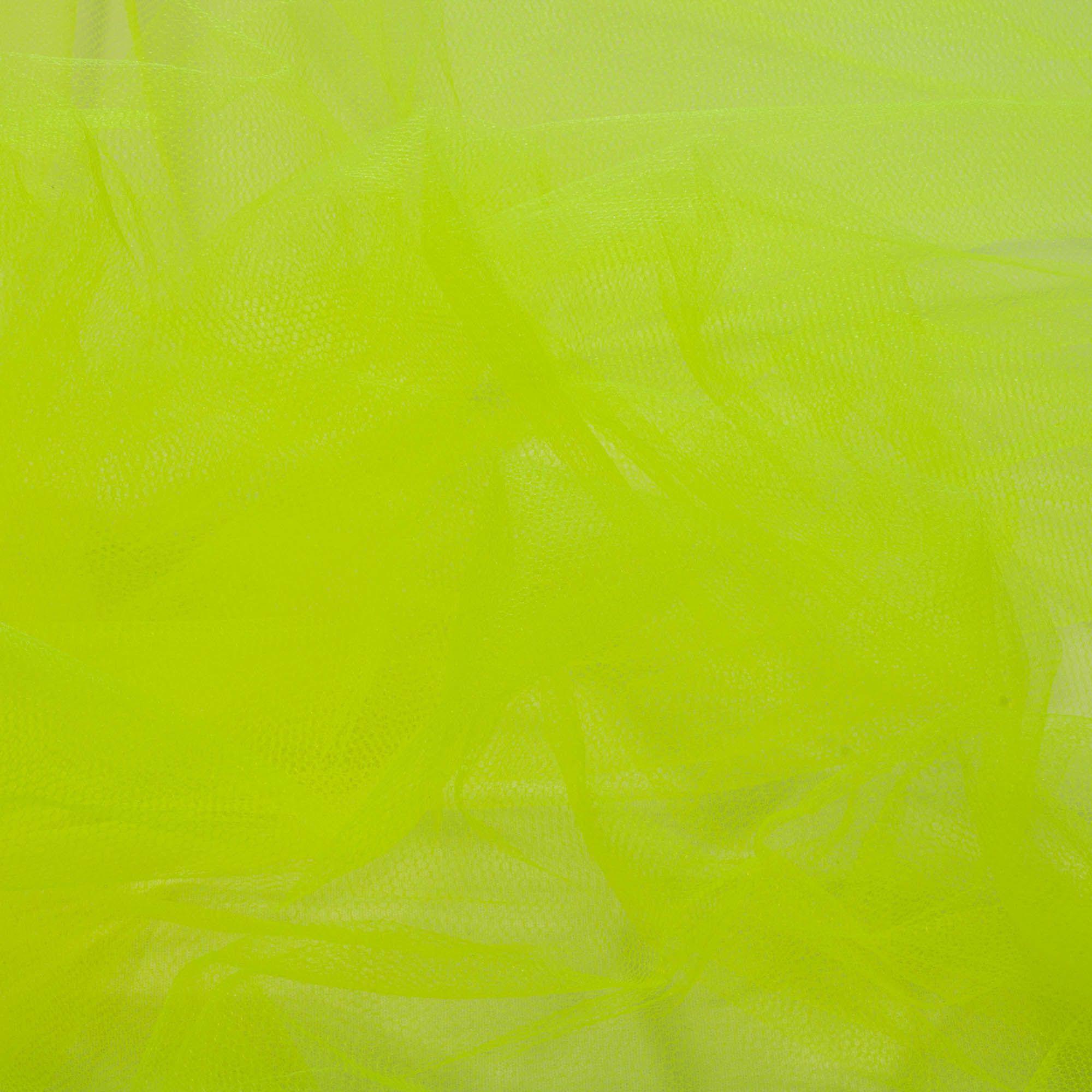 Tecido Tule Neon 100% Poliester 1,20 Mt Largura 008 Amarelo Limão