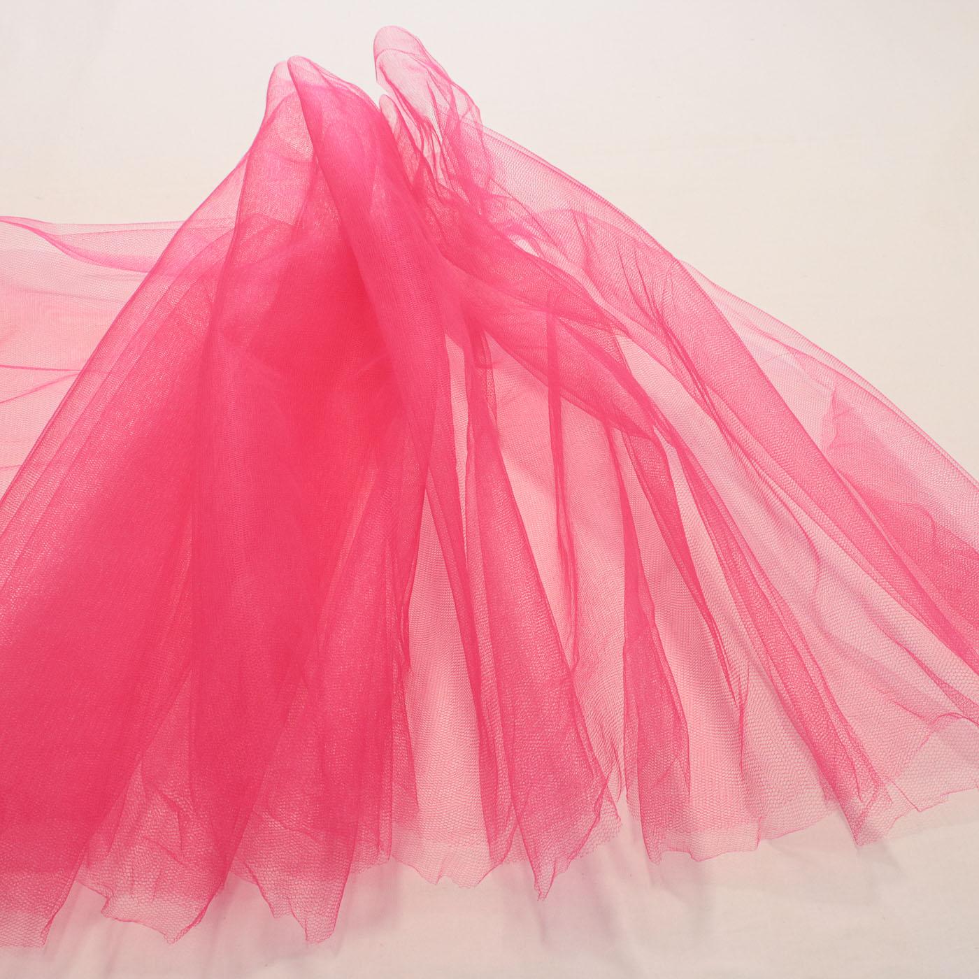 Tecido Tule 100% Poliester 1,20 Mt Largura 016 Rosa Pink