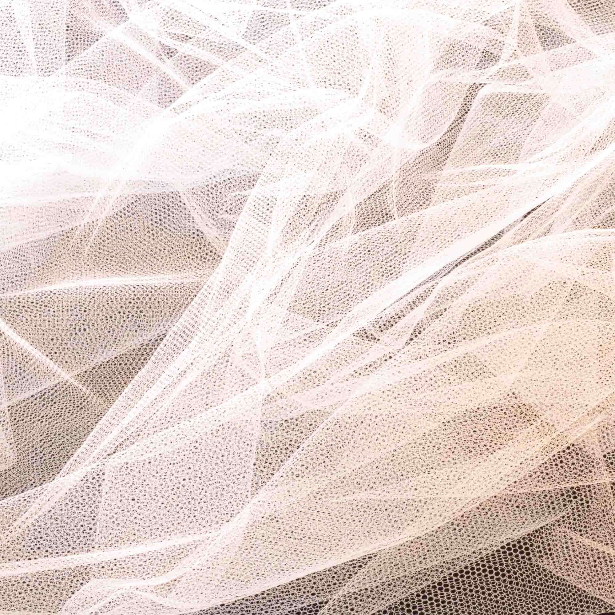 Tecido Tule Branco 100% Poliester 1,20 m Largura