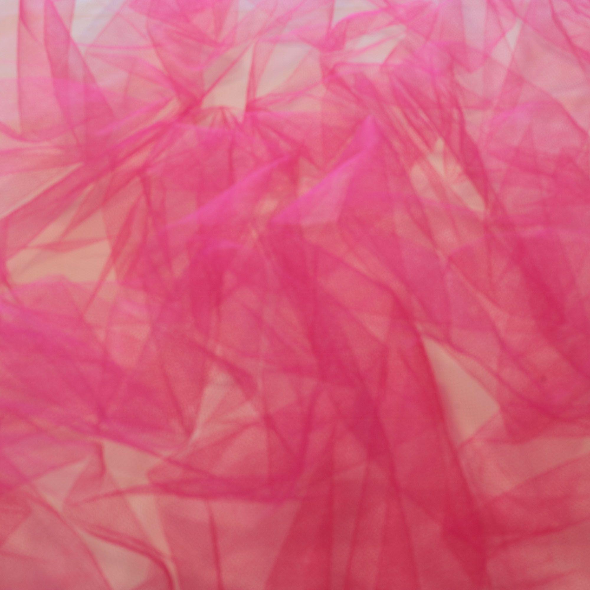 Tecido Tule Rosa Pink 100% Poliester 1,20 m Largura