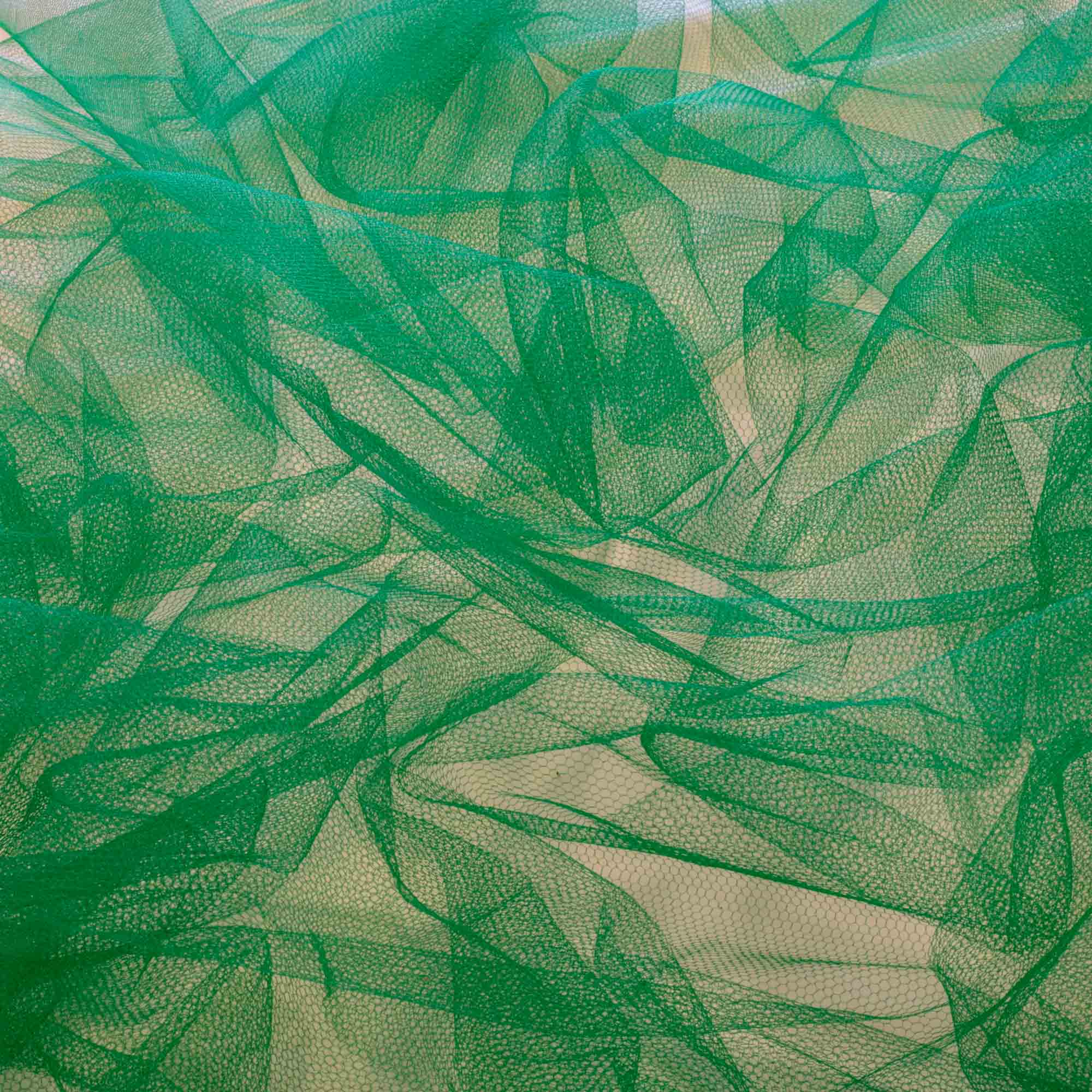 Tecido Tule Verde Bandeira 100% Poliester 1,20 m Largura