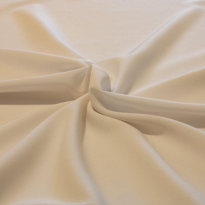 Tecido Gabardine Two Way Branco com Elastano 96% Poliester 4% Elastano 1,50 m Largura