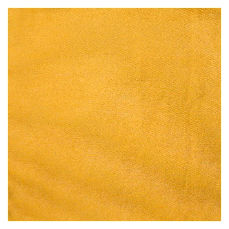 Tecido Veludo Cotele Amarelo 100% Algodão 1,40 m Largura