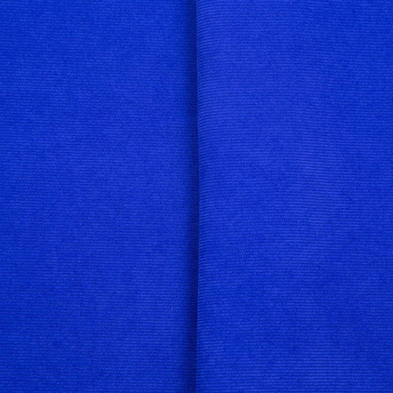 Tecido Veludo Cotele 80% Poliéster 17% Poliamida 3% Elastano 1,40 Mt Largura Azul Royal