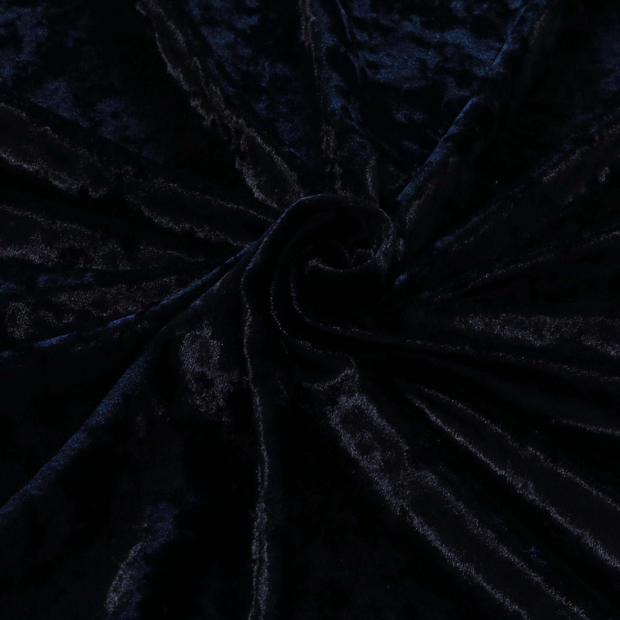 Tecido Veludo Molhado 1,40 m Largura Azul Marinho