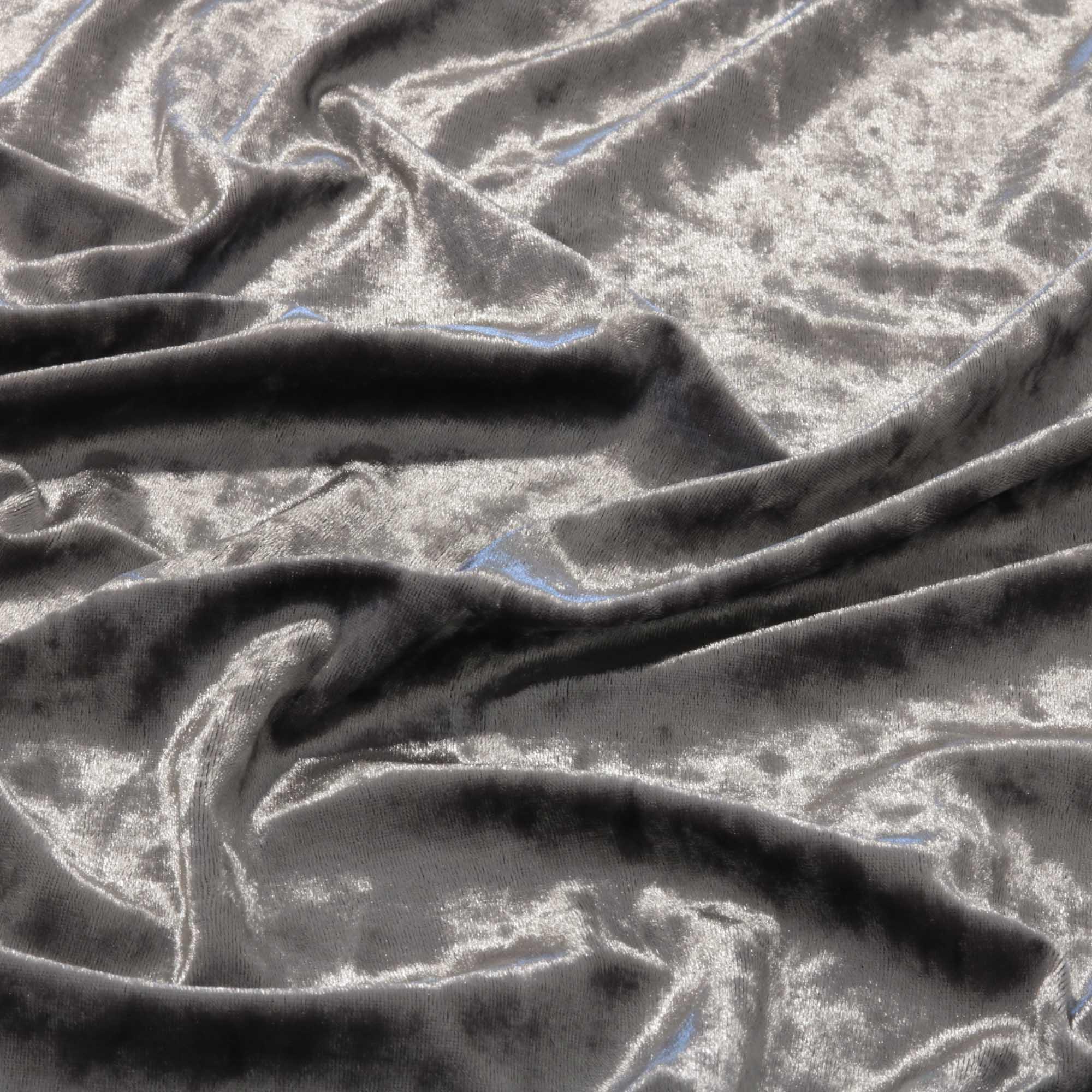 Tecido Veludo Molhado 1,40 m Largura Prata
