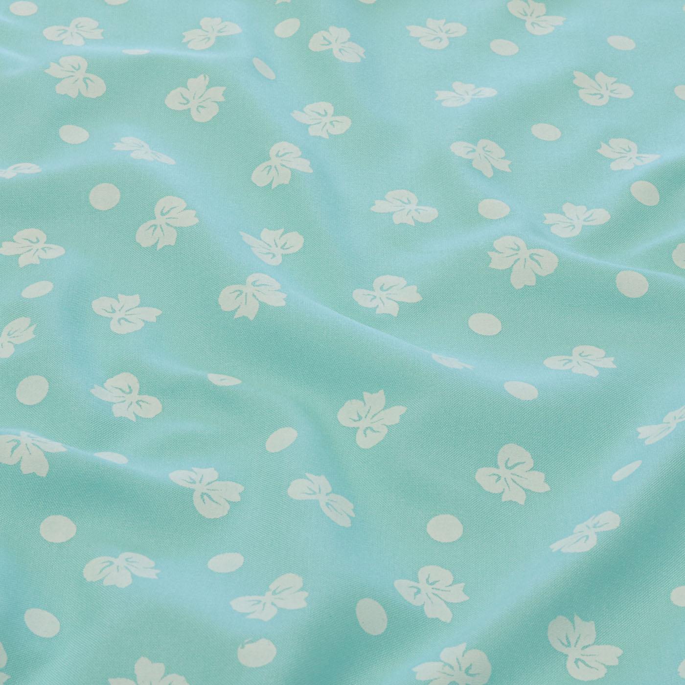Tecido Viscose Estampado Laços 100% Viscose Azul Claro