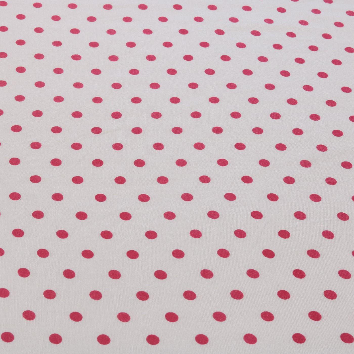 Tecido Viscose Estampado Poa Bolas 100% Viscose Pink