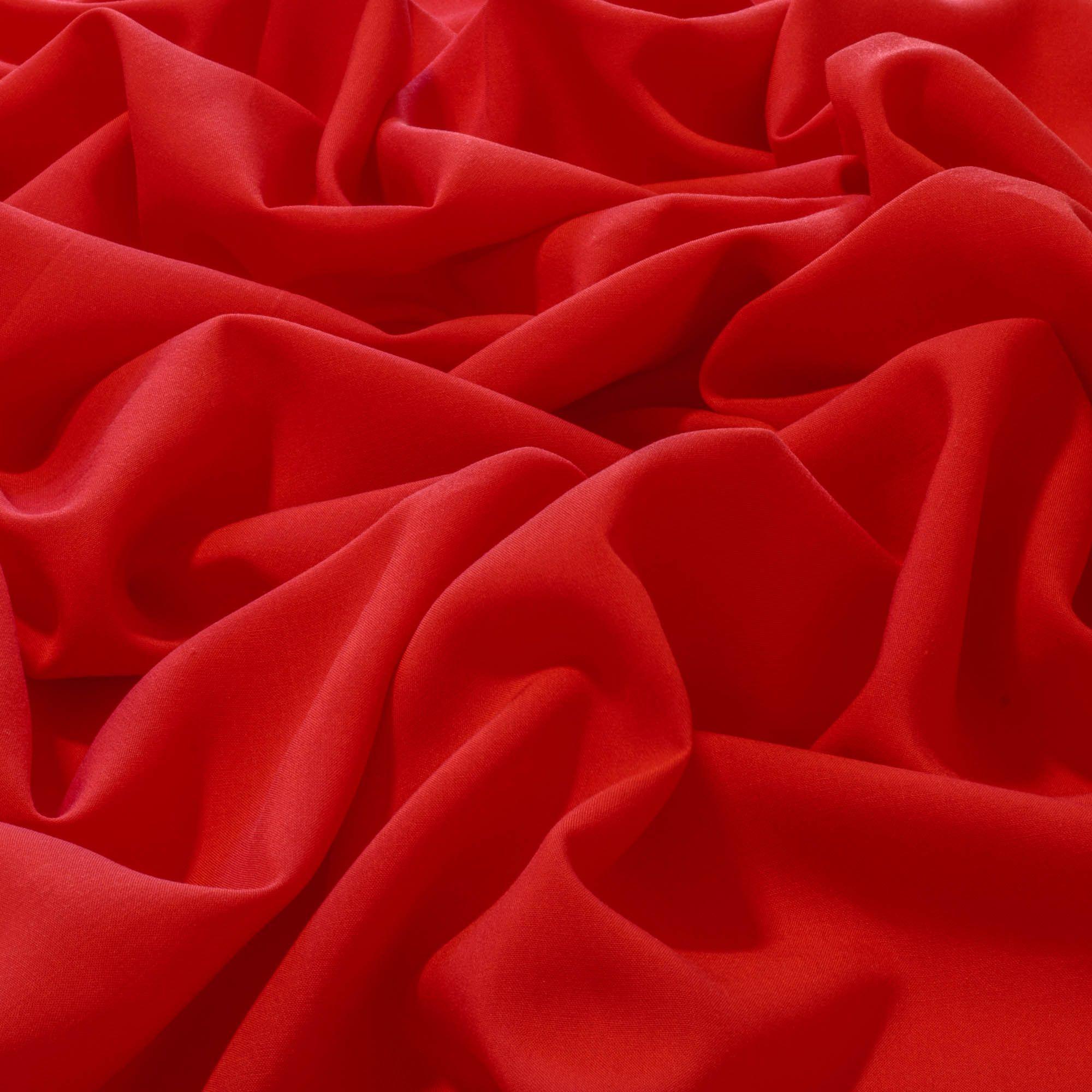 Tecido Viscose Vermelha 100% Viscose 1,40 m Largura