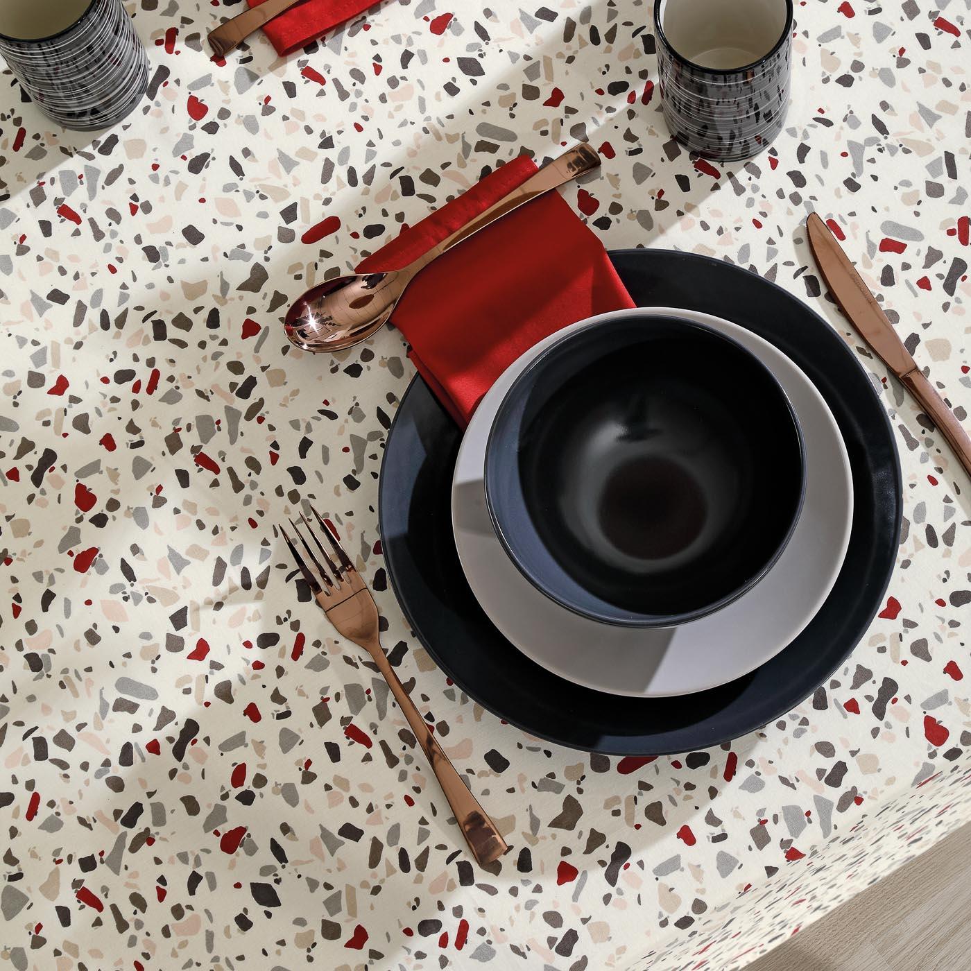 Toalha Centro de Mesa Limpa Fácil Dohler Quadrada 78cmx78cm Evelyn