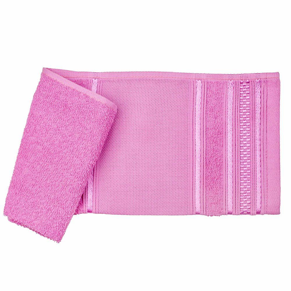 Toalha lavabo rosa desiree santista 100% algodao