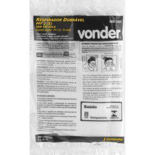 Máscara Descartável | Respirador dobrável, semifacial, PFF2, RDV 2201 - VONDER