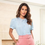 BLUSA JULIANE CREPE RENDA