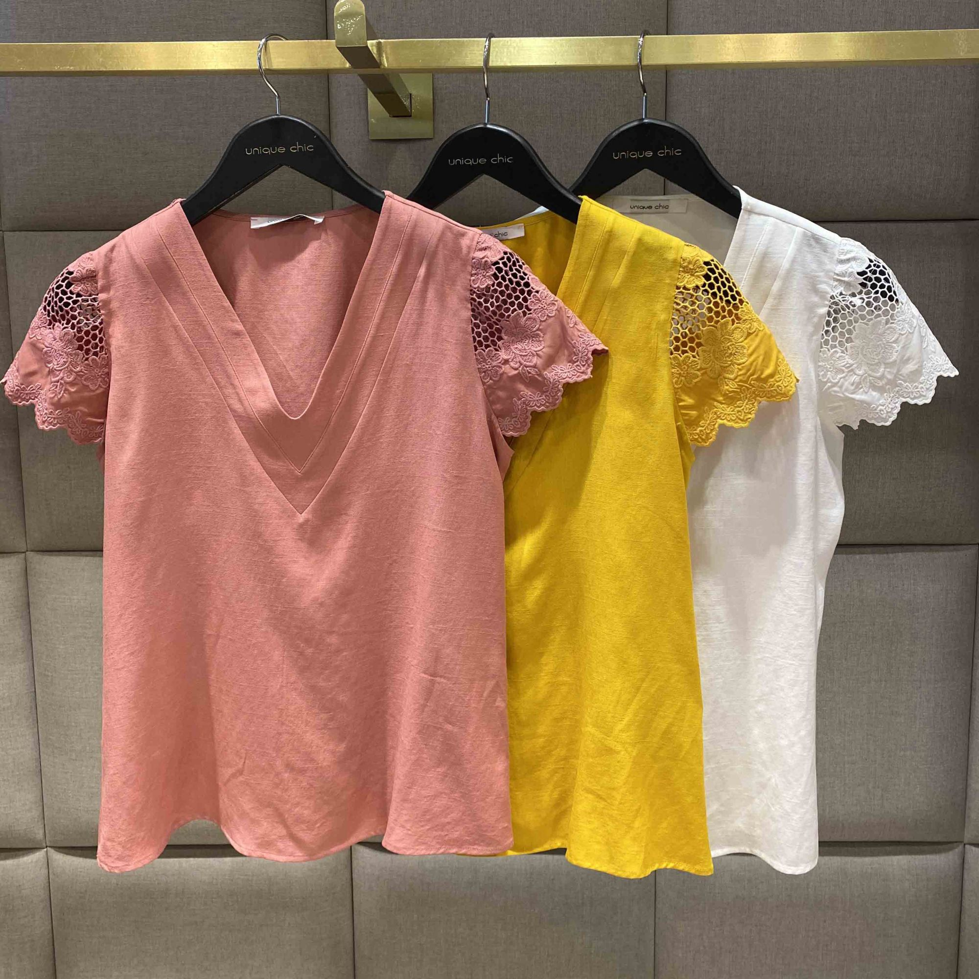 BLUSA PRETTY MANGA RENDA