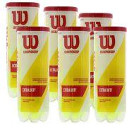 6 tubos de Bolas de Tênis Wilson Extra Duty (18 bolas)