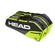 Raqueteira Head Core 6R Combi - Preto/Neon