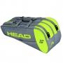Raqueteira Head Core 6R Combi - Cinza e Neon